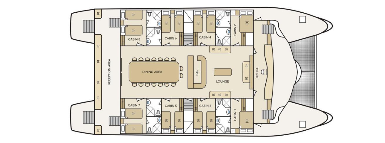 Solaris main deck plan